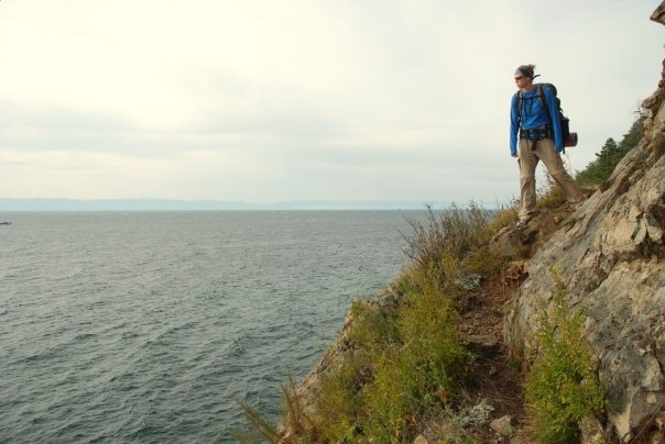 Hiking the Great Baikal Trail north of Listvyanka.