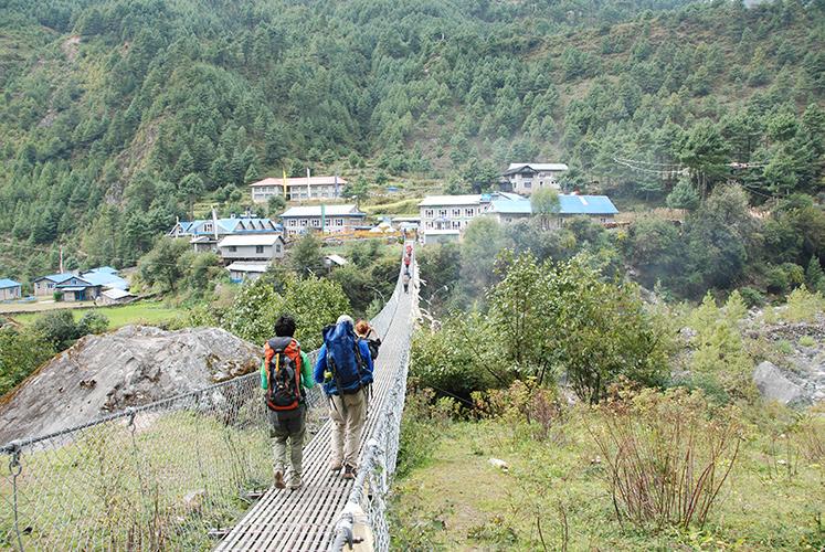 Bridge over Dudh Kosi River to Phakding