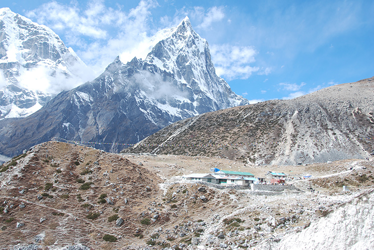 Tukla, a waystation on the hike up the Khumbu.