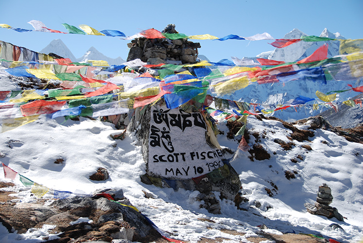 The chorten honoring climber Scott Fischer, who died on Everest in 1996.