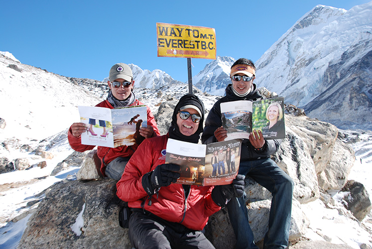 A reading break on the way to Base Camp. With Jayta Rai and Mingma Sherpa.