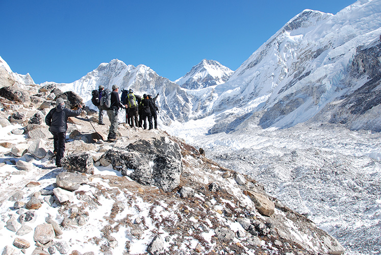 High in the Khumbu, nearing the end of the trail.