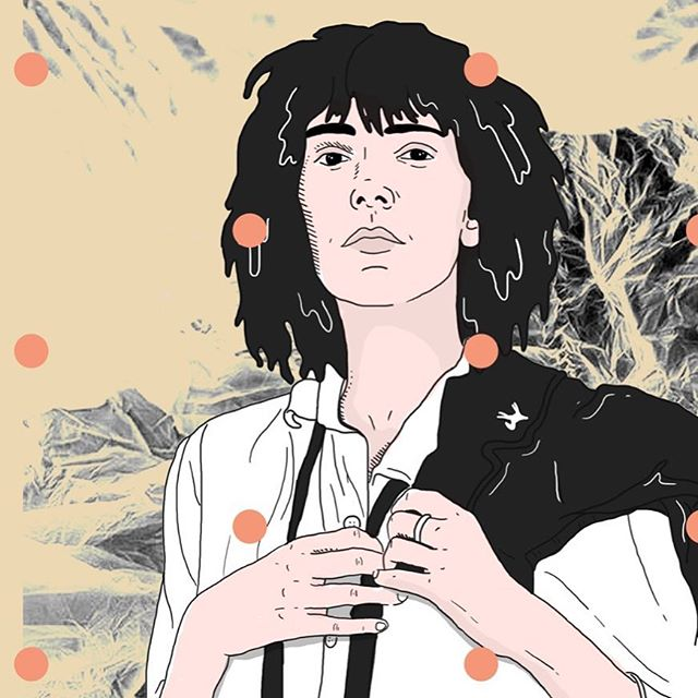 Patti Smith #pattismith #rockstar #music #icon #womenpower #womenempowerment #strongwomen #illustration #womenillustrators #becausethenight #ballpitmag #creativityfound #creativityonline #itsnicethat