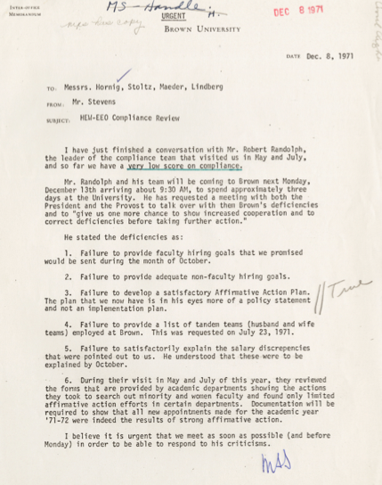 Click document to read full text  Brown University Archives