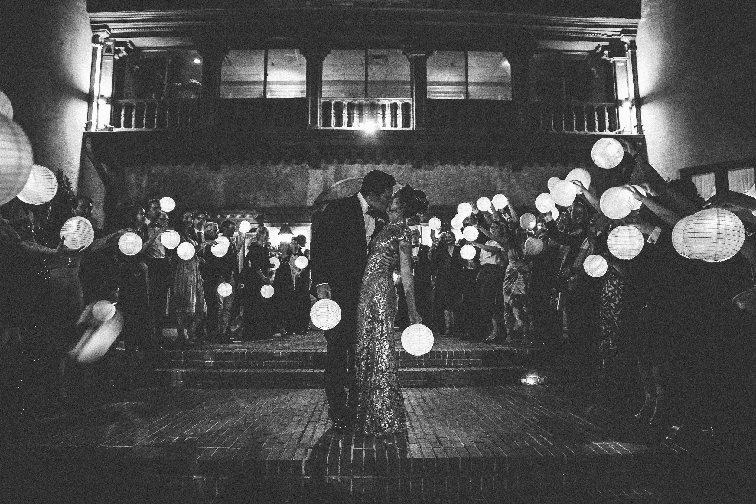lantern exit shot- destination wedding photographer