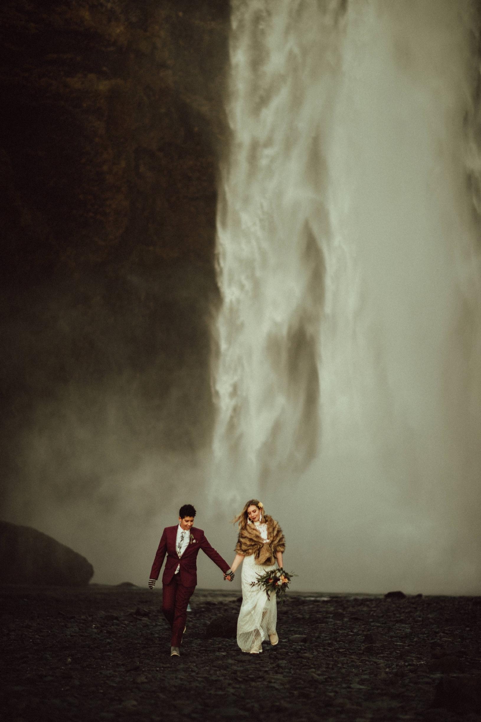 LGBTQ-iceland-elopement-skogafoss