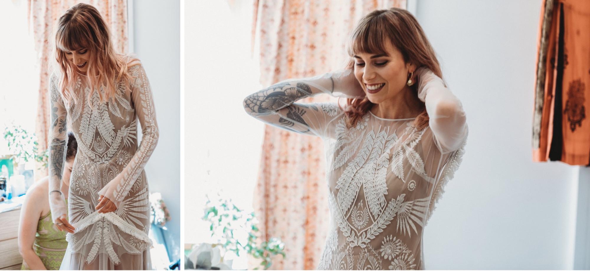 hackney London wedding tattooed bride by zakas photography