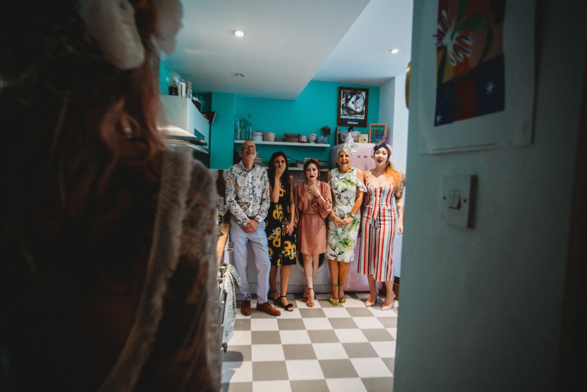 hackney London wedding bride reveal by zakas photography