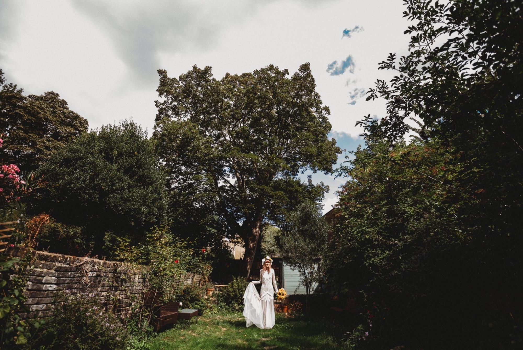 hackney London wedding bride portraits by zakas photography