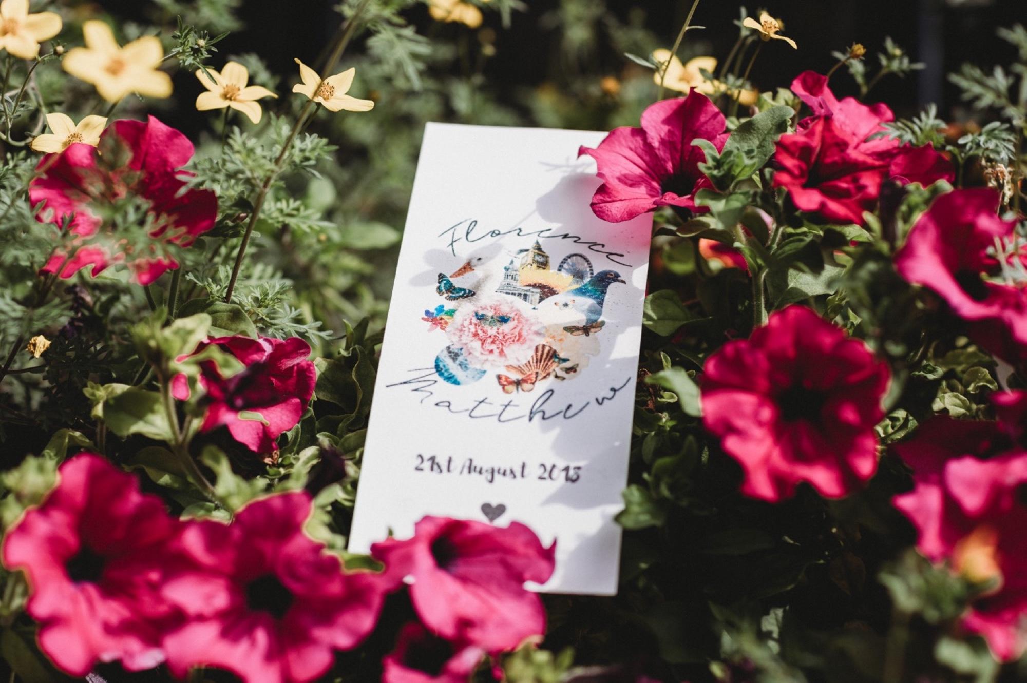 hackney London wedding invitation by zakas photography