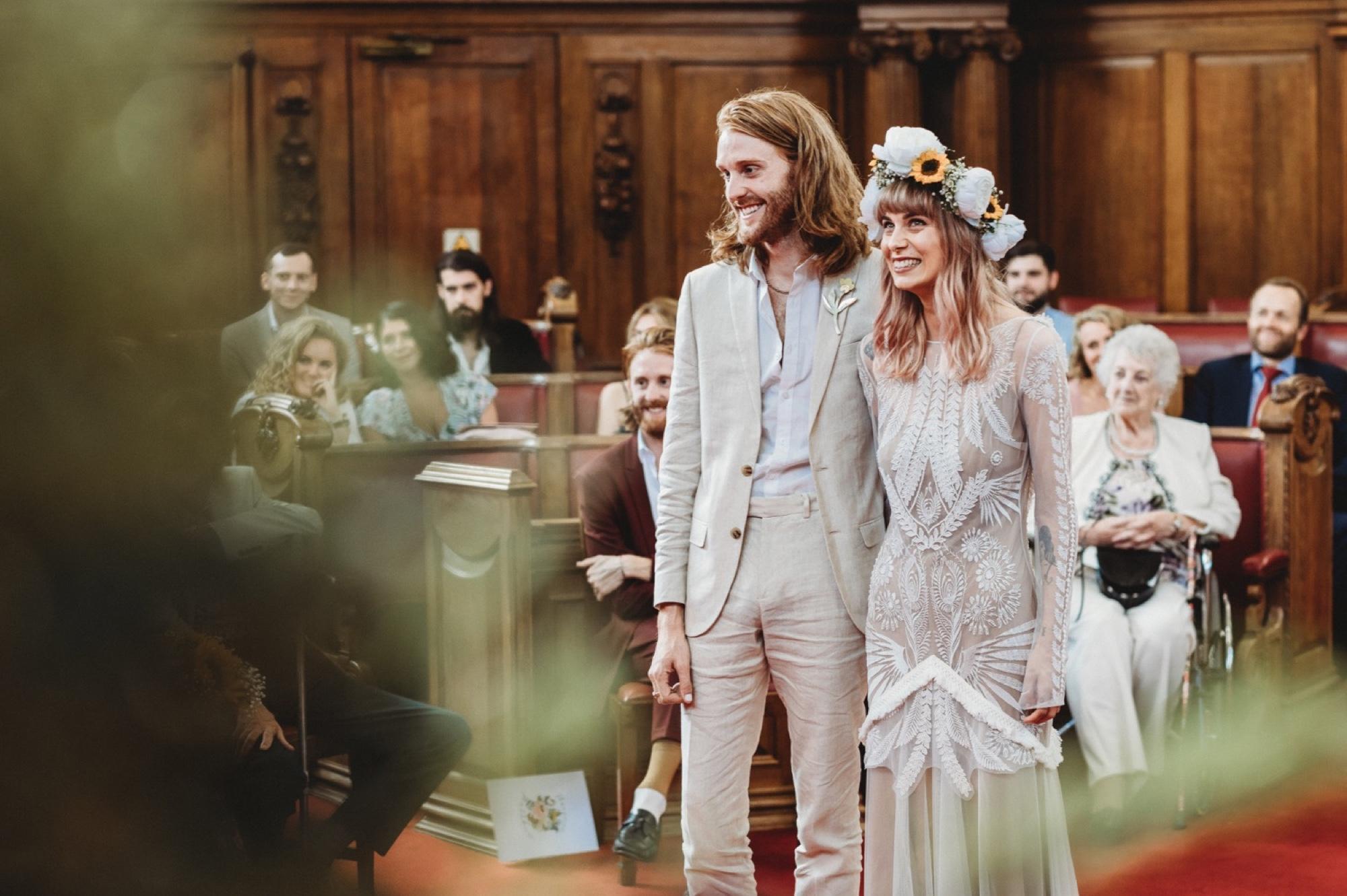 hackney London wedding ceremony by zakas photography