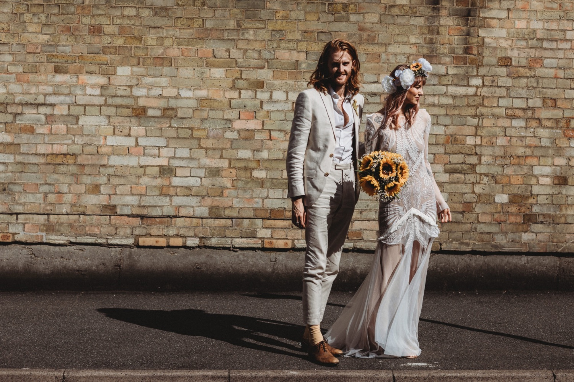hackney London wedding ceremony exit by zakas photography