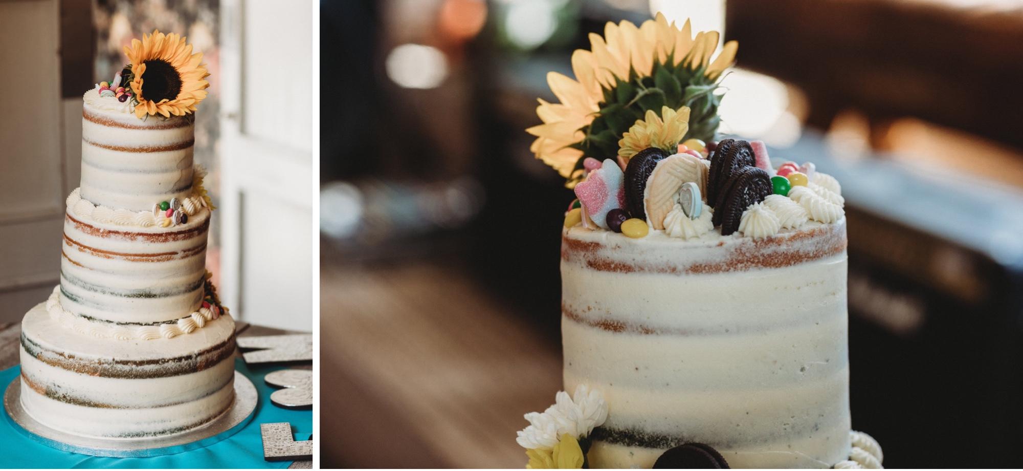 hackney London wedding vegan cake by zakas photography