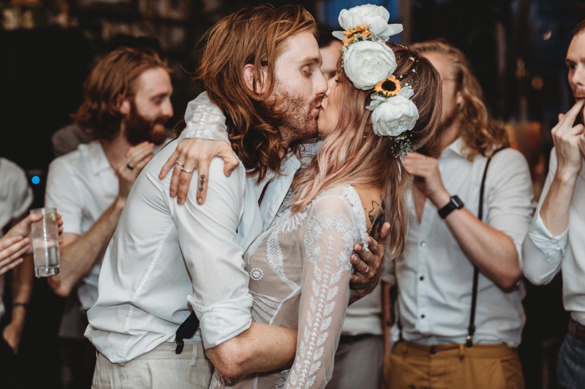 hackney London wedding reception Wringer and Mangle by zakas photography
