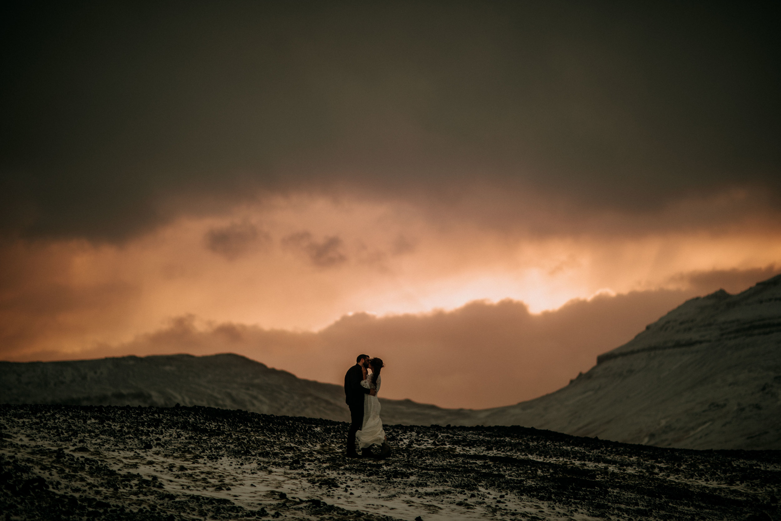 elopement on iceland mountain top