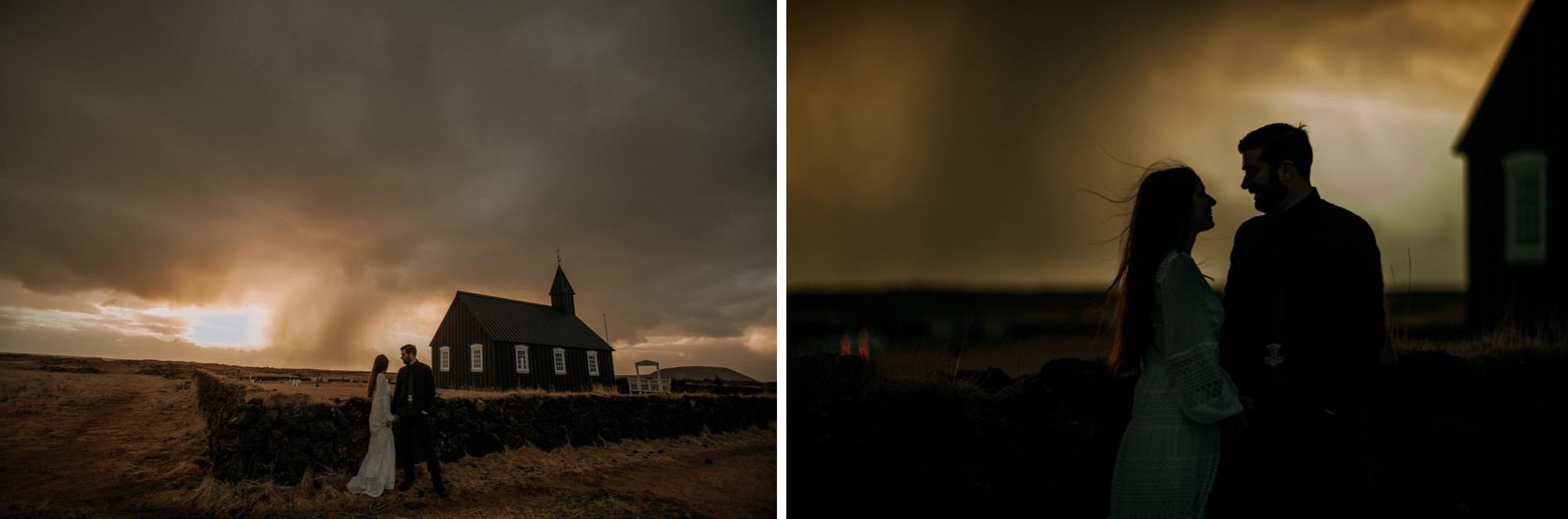iceland elopement black church