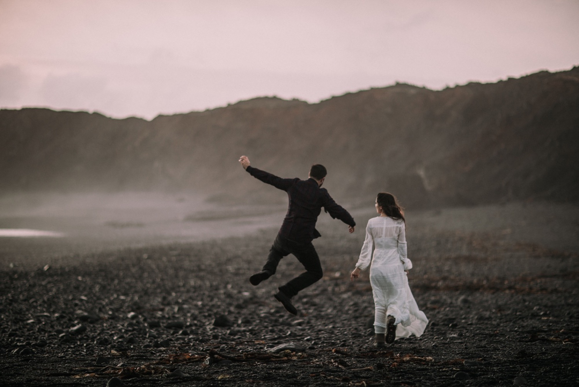 iceland elopement black beach