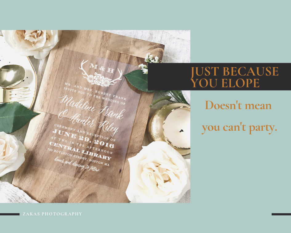 elopement reception invite
