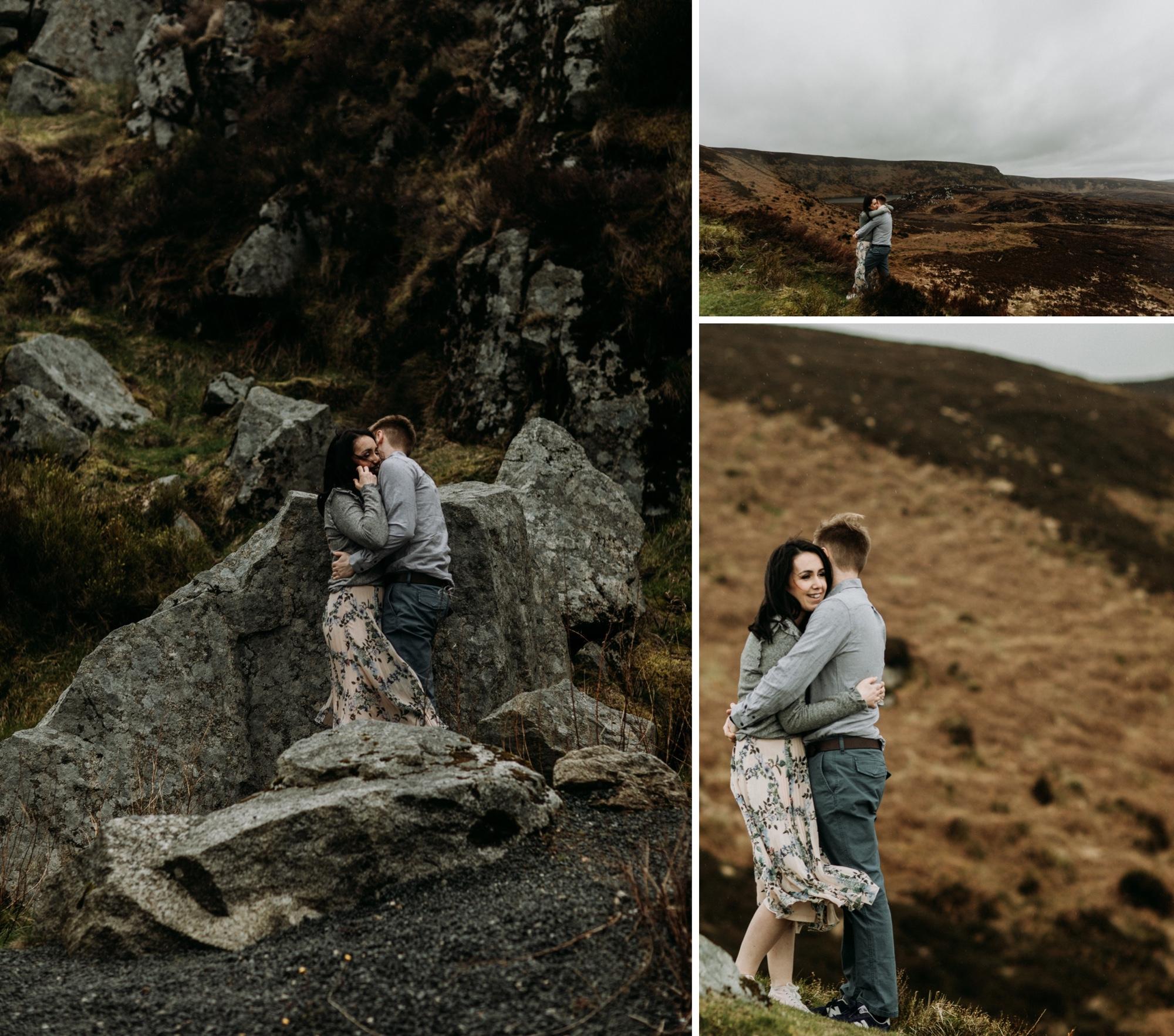 wicklow mountains Ireland engagement photos