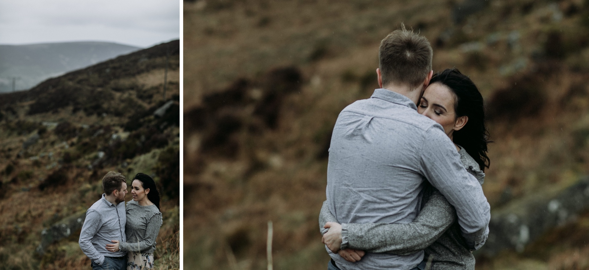 couples session in wicklow mountains