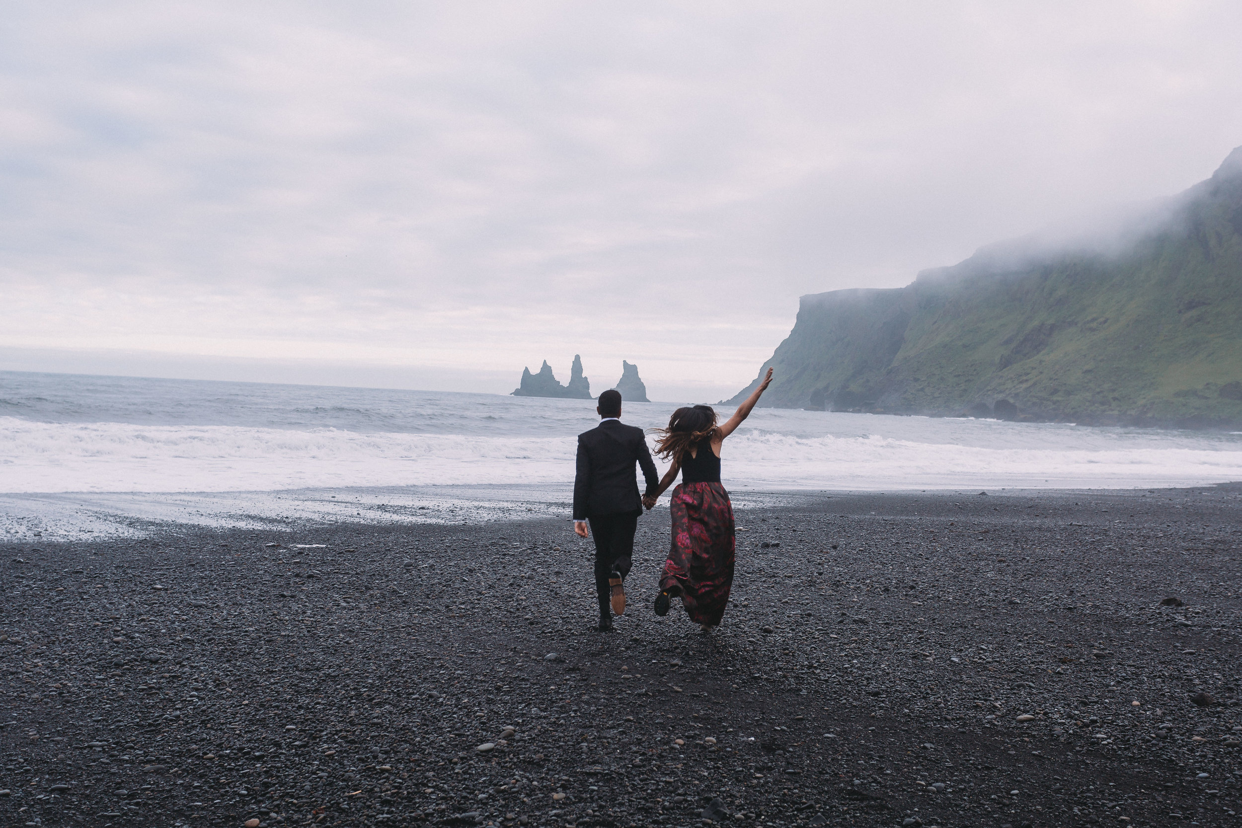 reynisfjara black sand beach iceland elopement