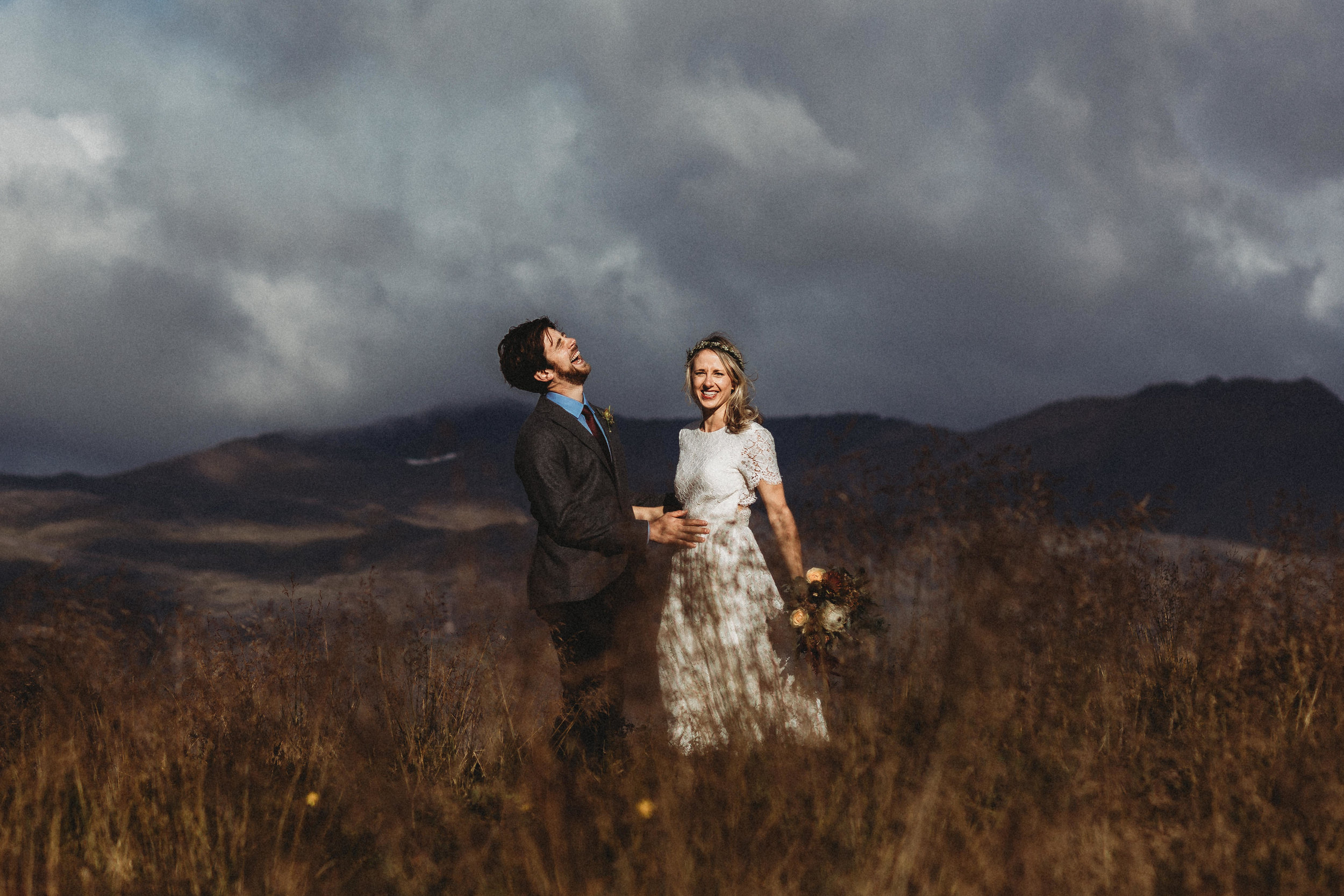 iceland elopement  photographer at black church