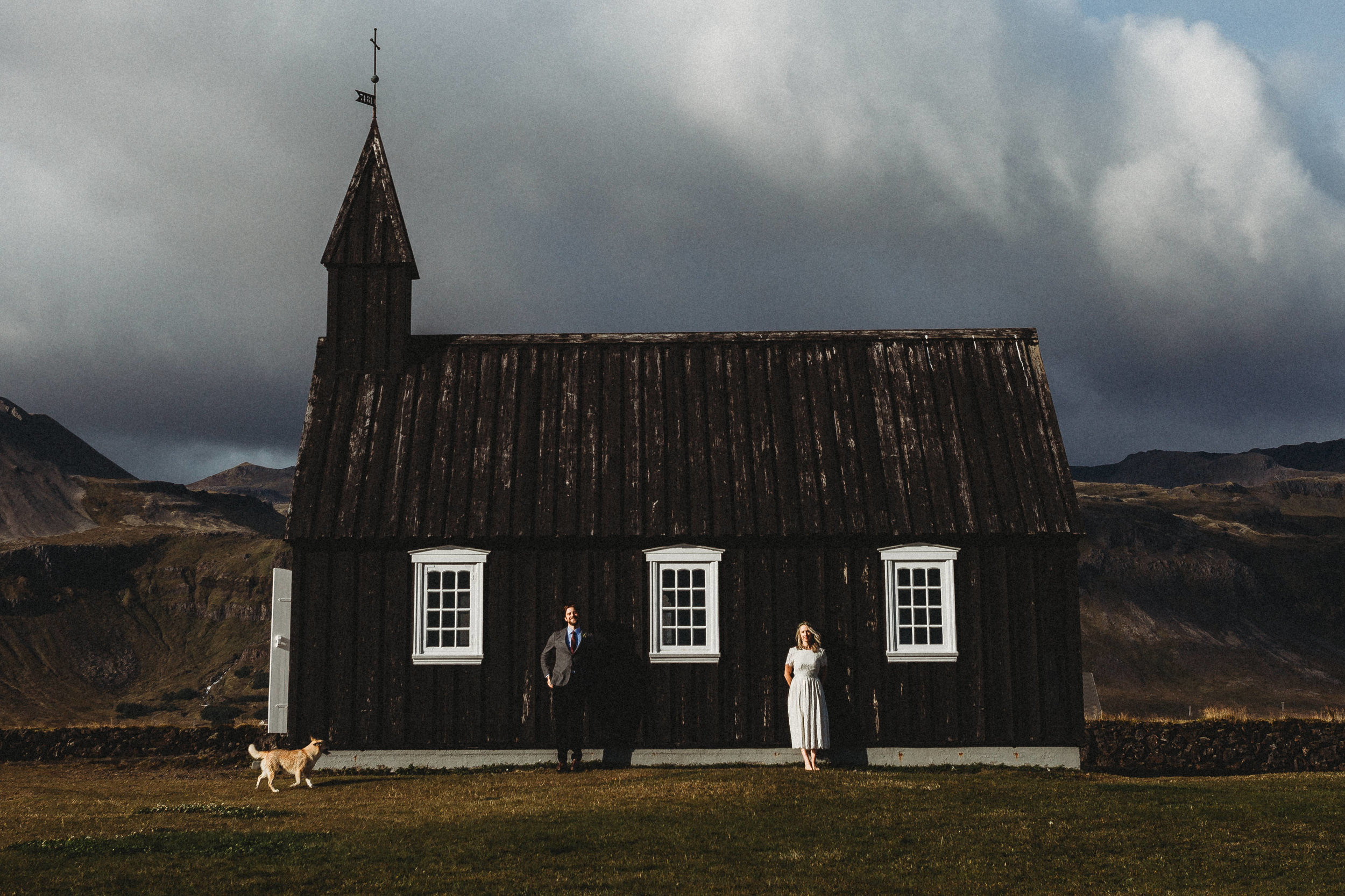 iceland elopement photographer budir church