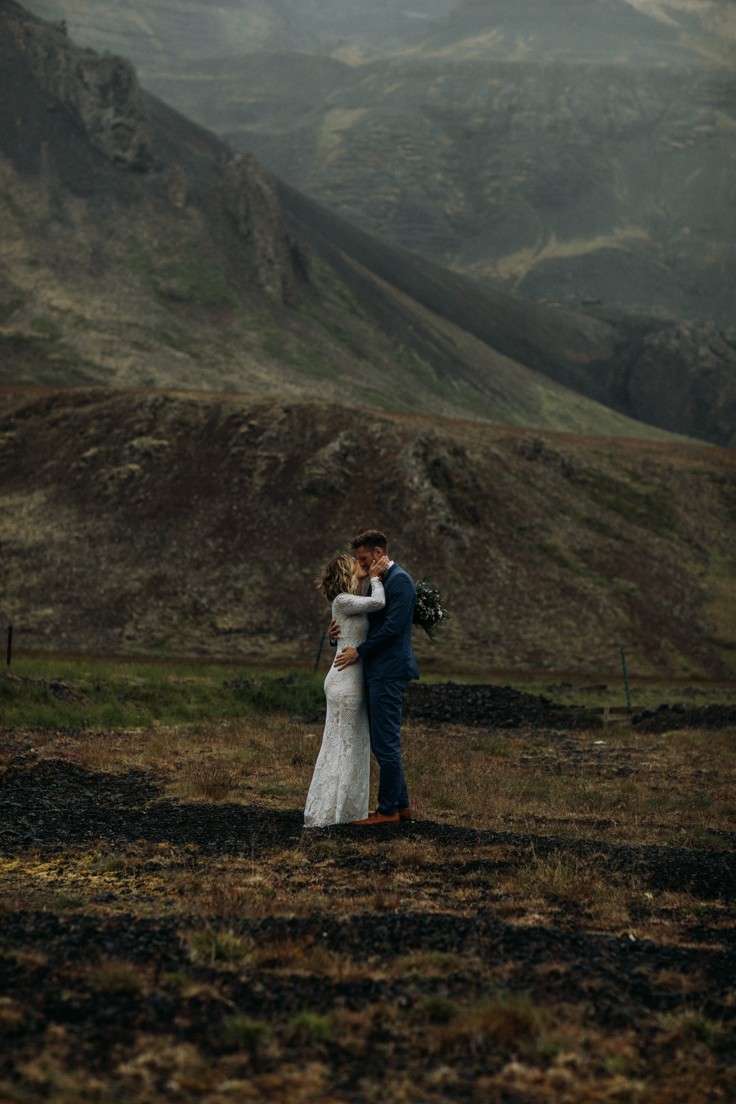 iceland wedding in mountains