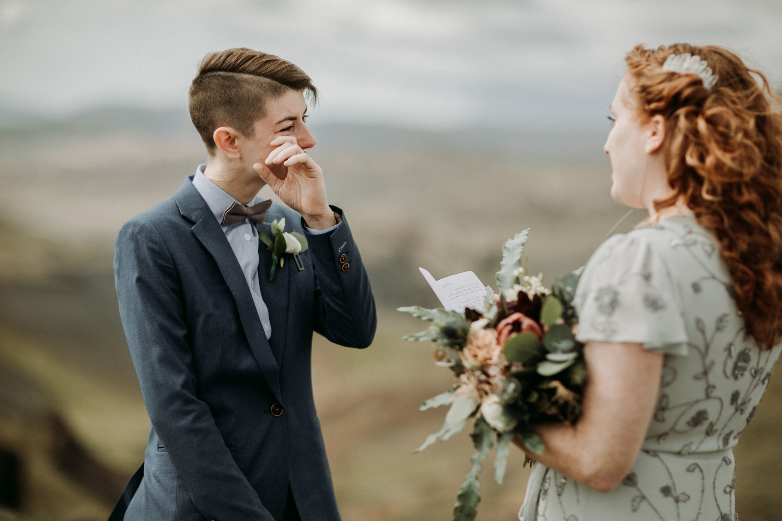 same sex elopement photos