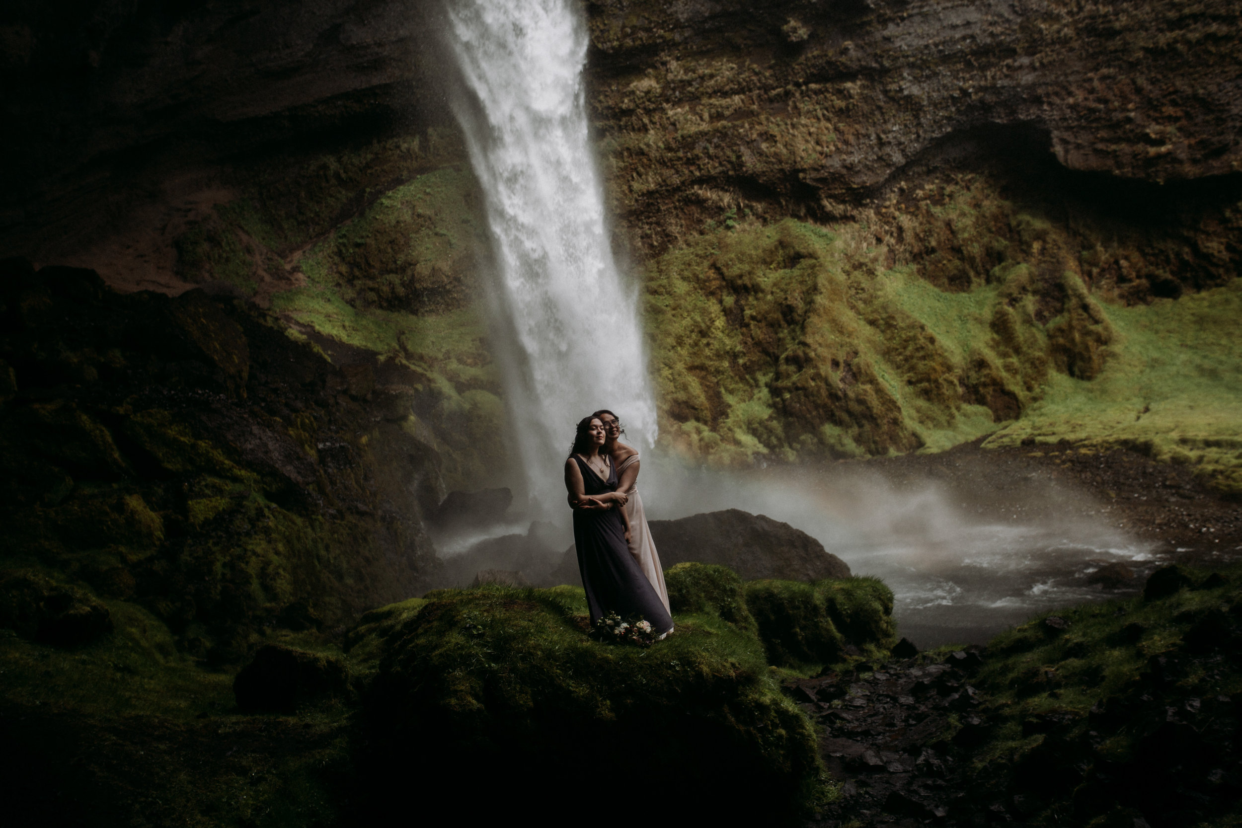 lgbtq iceland wedding | iceland wedding photographer | iceland waterfall wedding
