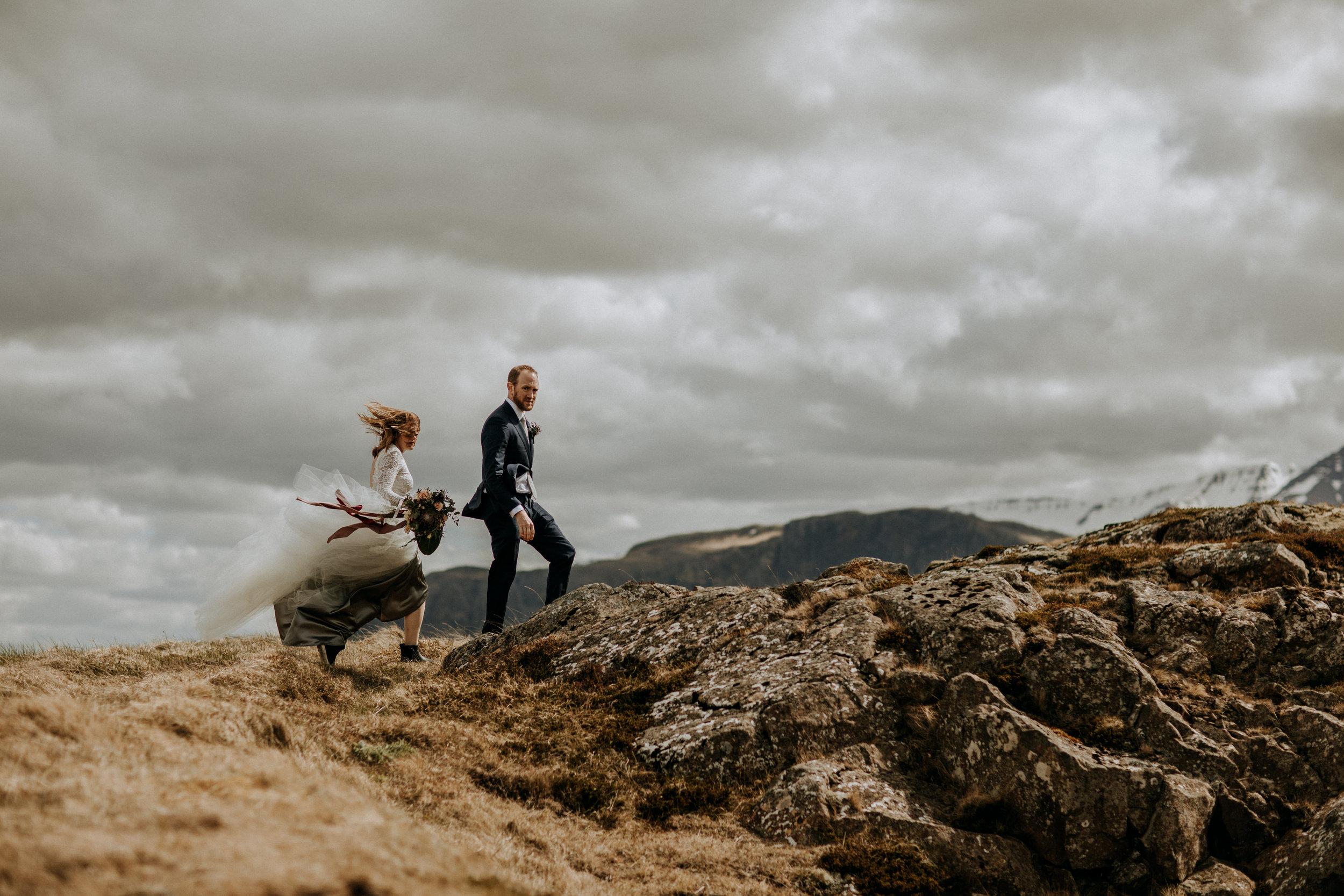 iceland elopement bride and groom photos | elopement photographer & planner