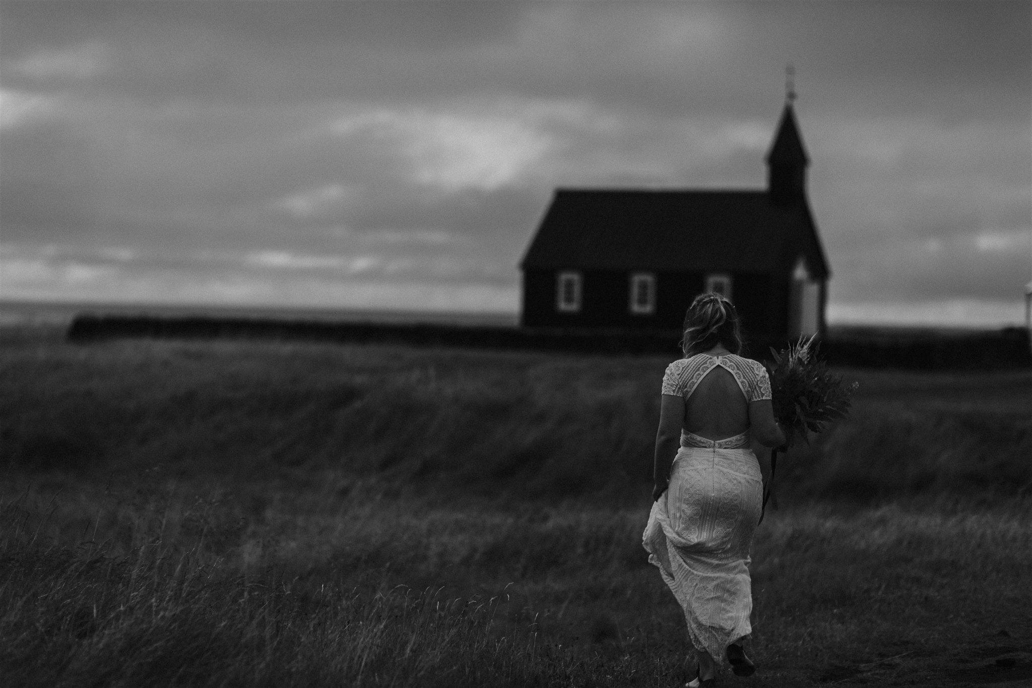 iceland elopement photographer budir church