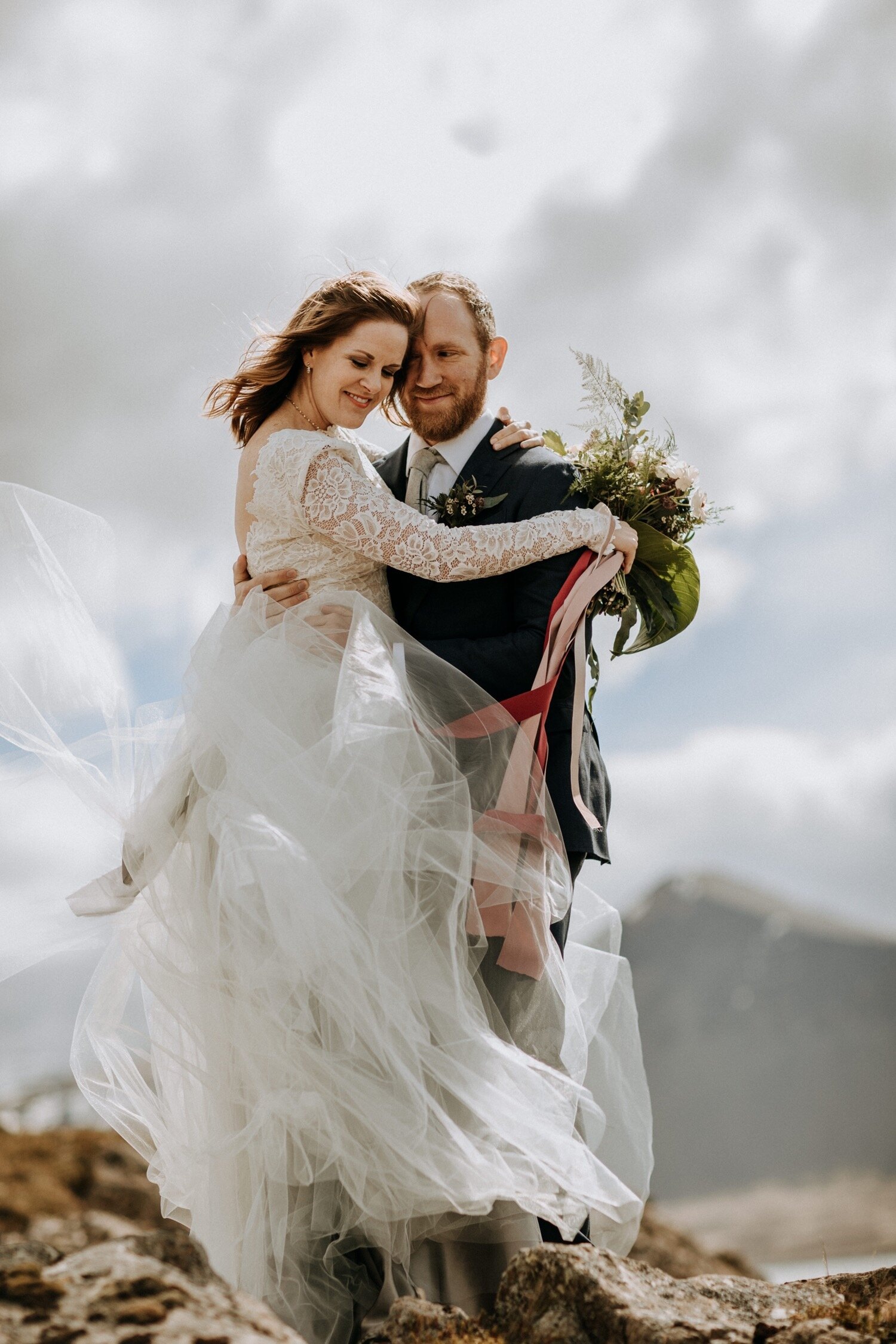 Elopement on Natural Rock Arch in Snæfellsnes -