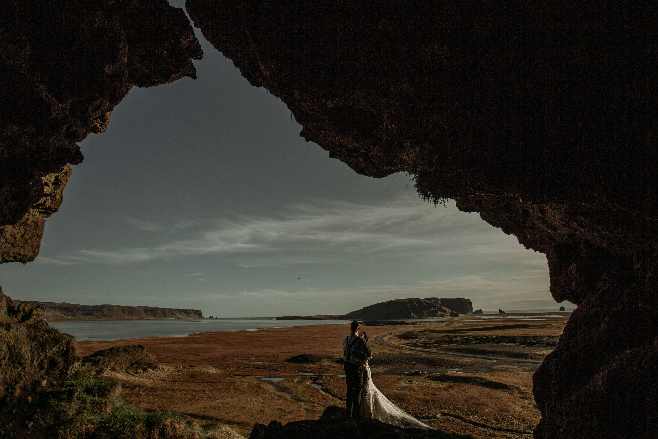 iceland elopement in private cave | iceland elopement photographer | adventure wedding planner