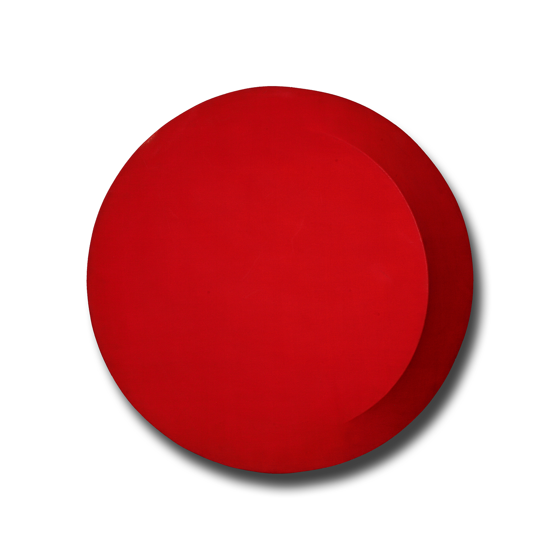 Di Benedetto_Red on Red CQ redo_32 inch diameter_acrylic on shaped canvas_1969 (2).jpg