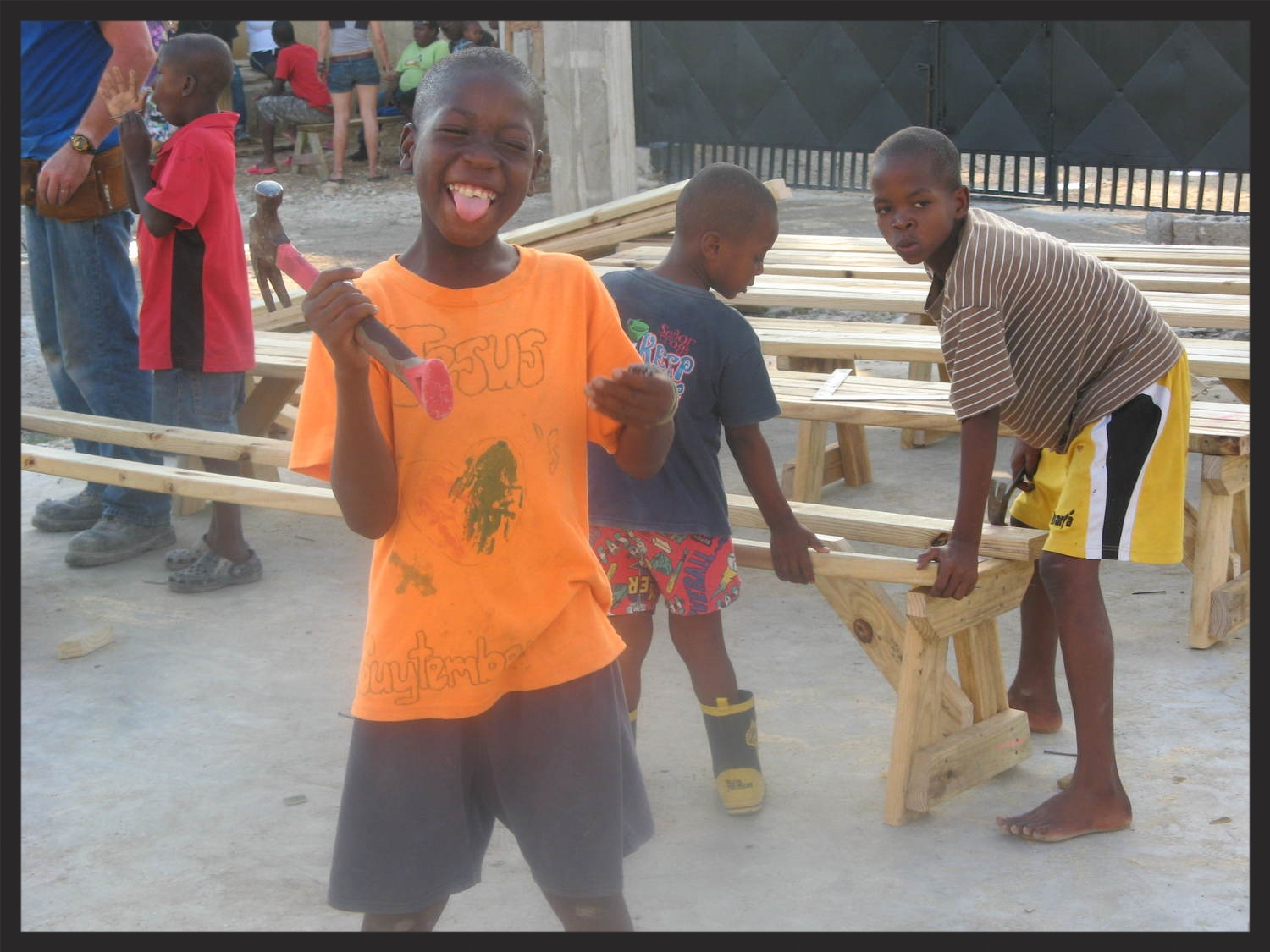 Building the worship centre.