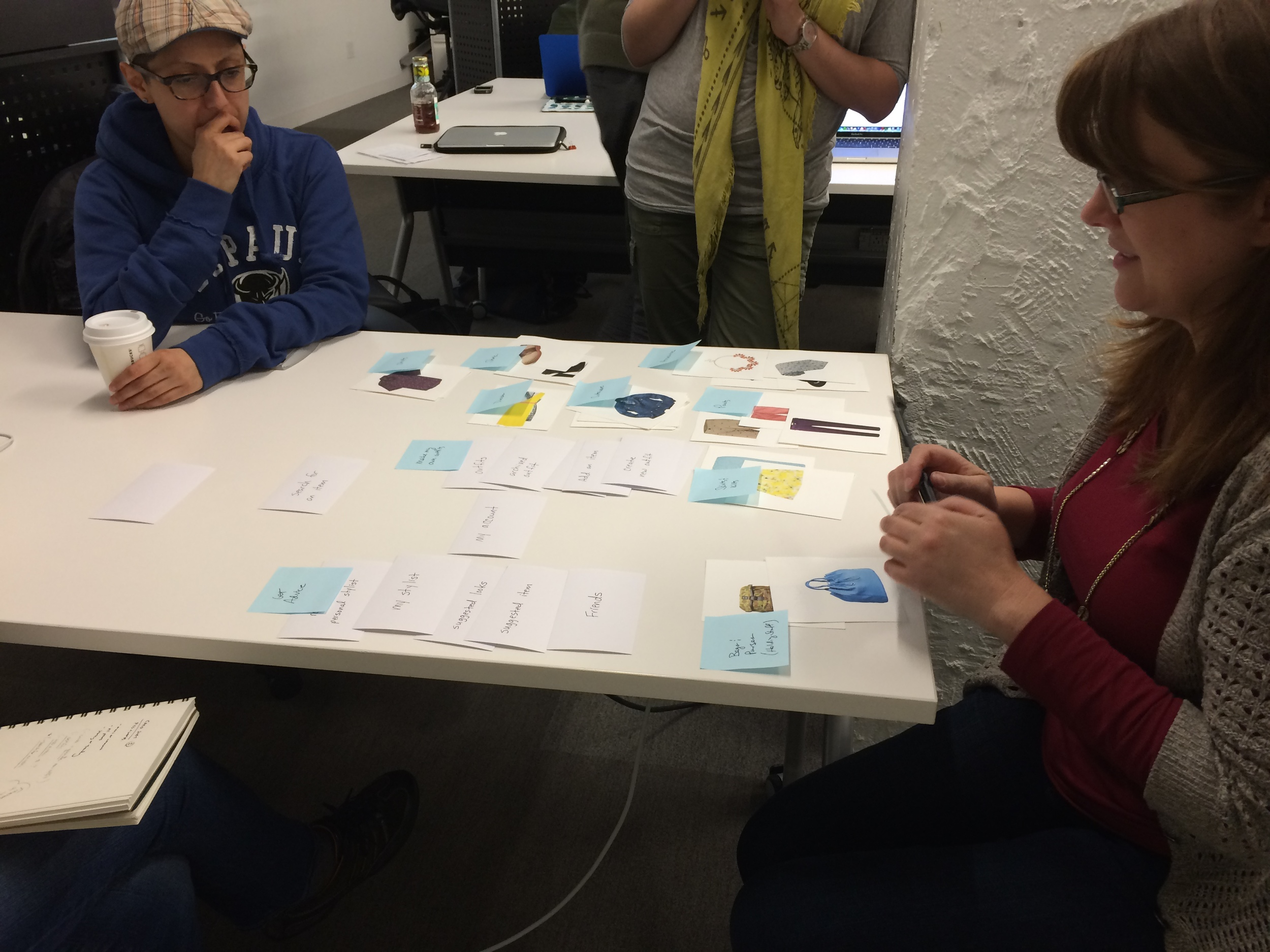 My UX instructor, Carolyn Chandler,co-author of  A Project Guide to UX Design  and  Adventures in Experience Design , participated in our card sort.