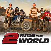 Simon and Lisa Thomas from 2RidetheWorld.com with over 11 years of traveling by motorcycle around the world