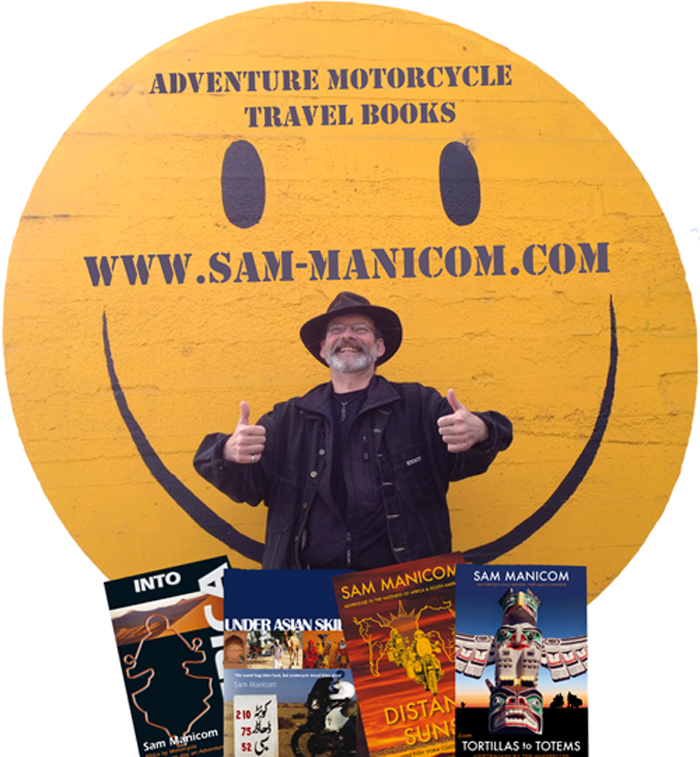 Sam Manicom is the author of four books on adventure motorcycle travel.