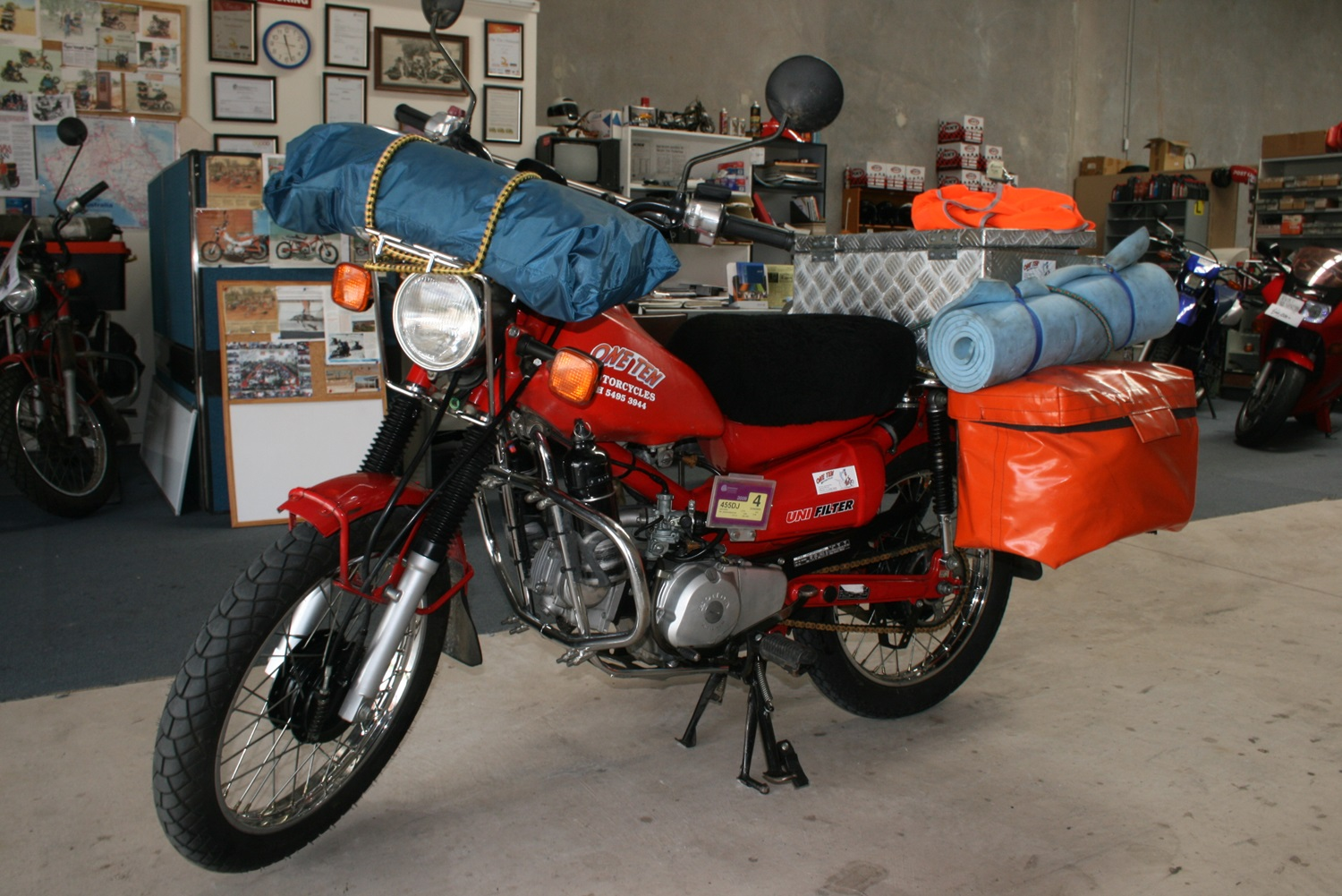 4. Having to swap bikes 600 miles in, with it this one that took me all the way to Alaska. Caboolture, Australia.jpg