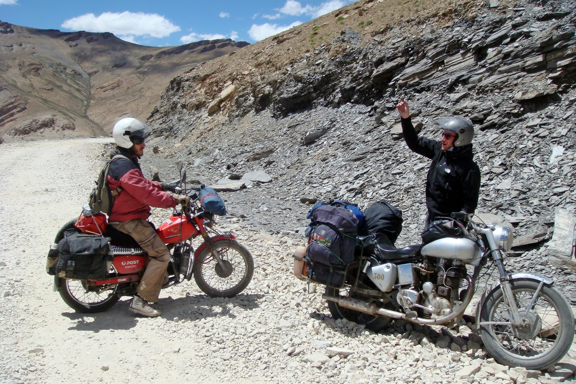 56. Riding in convoy for a change, Indian HImalayas.JPG