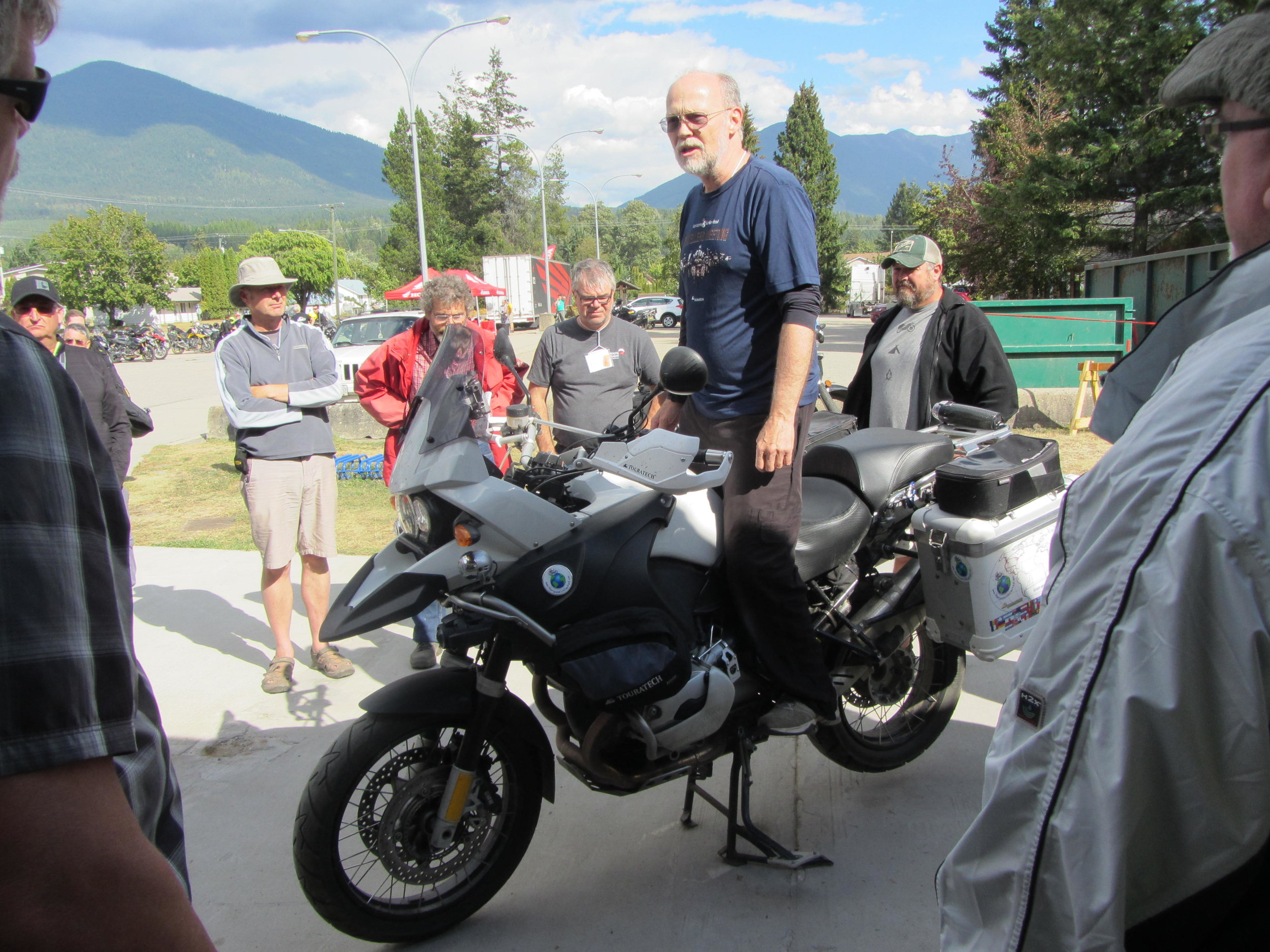 Tips For Buying an Adventure Motorcycle with Grant Johnson (pictured above @ CanWest 2016), Lawrence Hacking and Chris Scott.