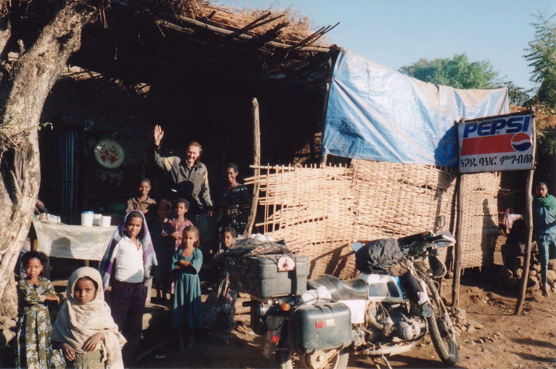 Ken in a small village in Ethiopia February 2000.jpg