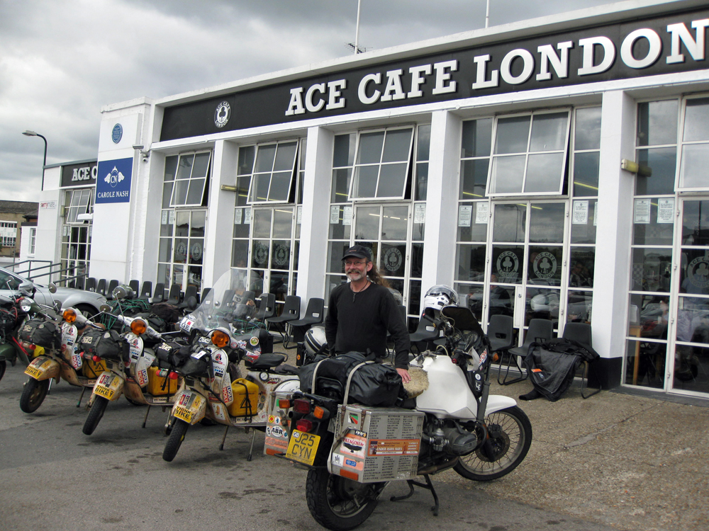 Image: Sam Manicom at the Ace Cafe London