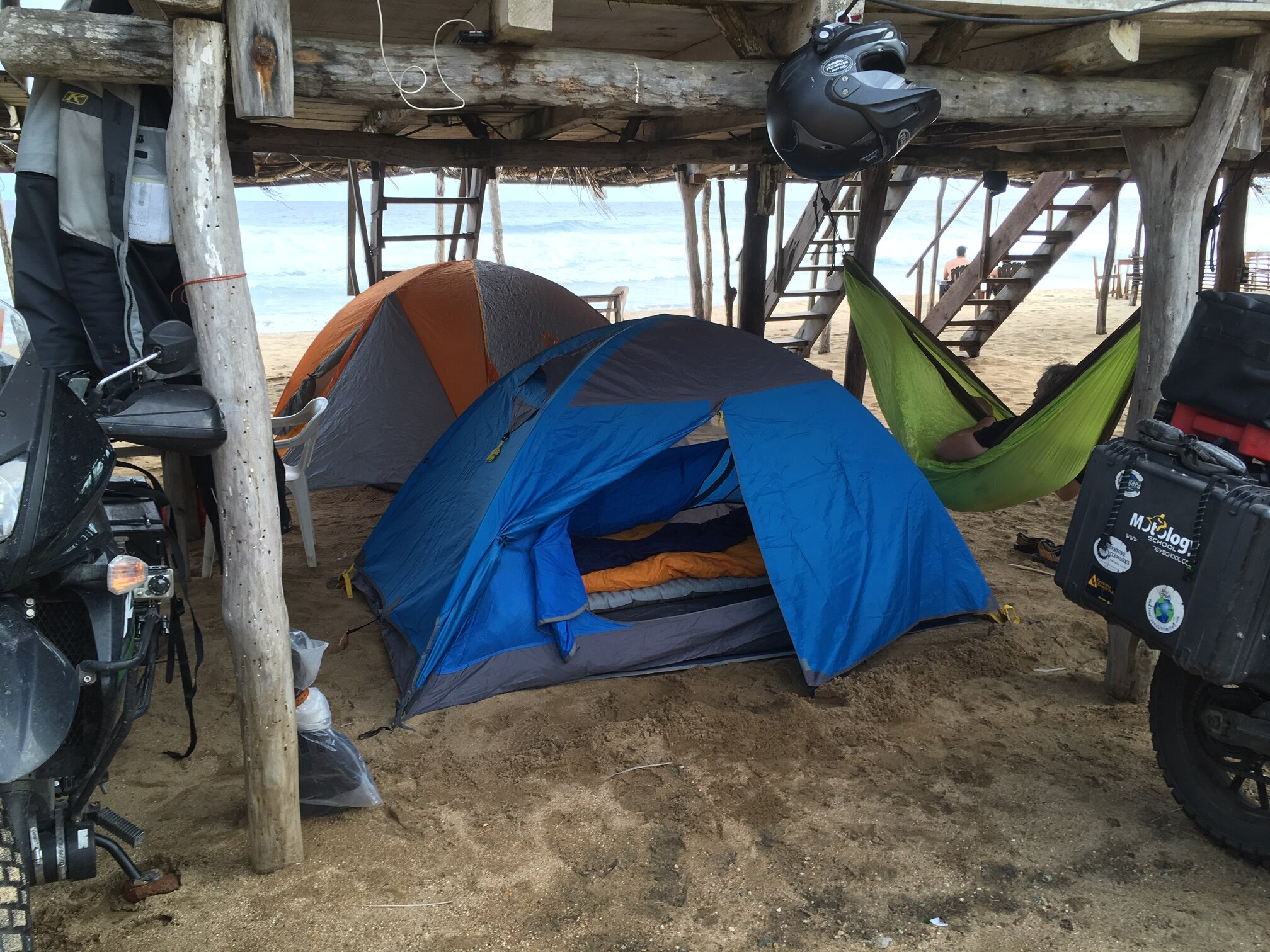 Image: Jeremy Kroeker and Elle West - Tents on the beach (Puerto Angel, Oaxaca, Mexico.