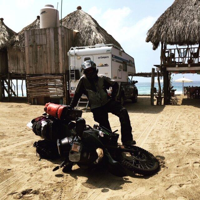 Jeremy, bike down. Zipolite, Mexico.