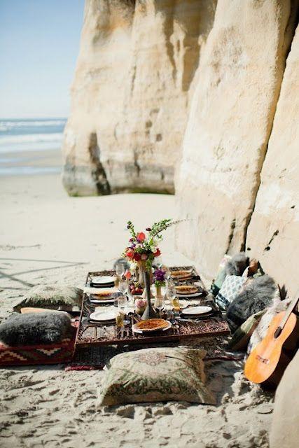Beach picnics with a little Kumbaya