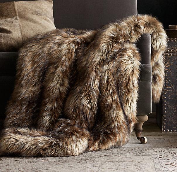 Exotic Faux Fur Throw