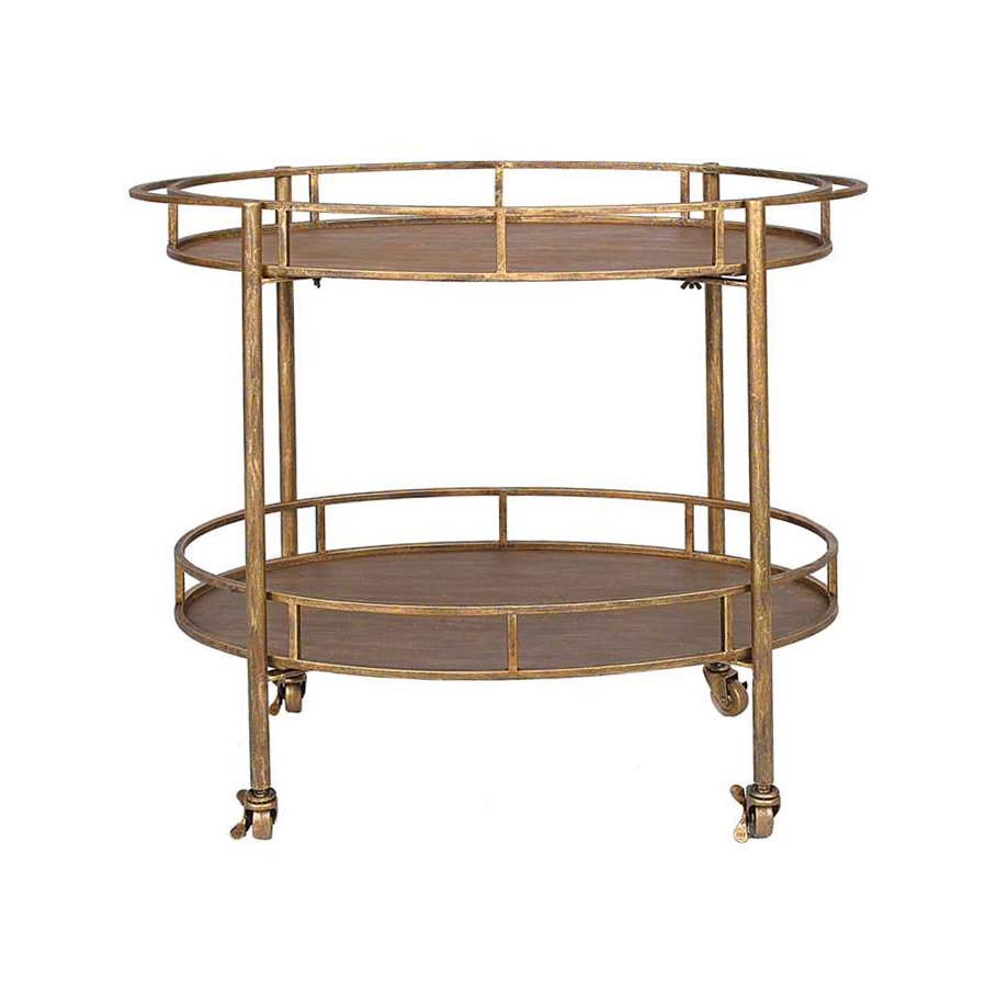 Gold and Metal Bar Cart