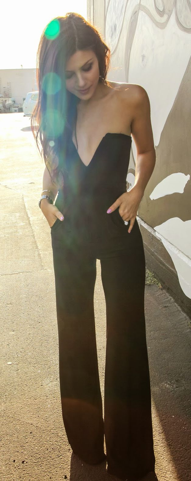 Classic black jumpsuit.